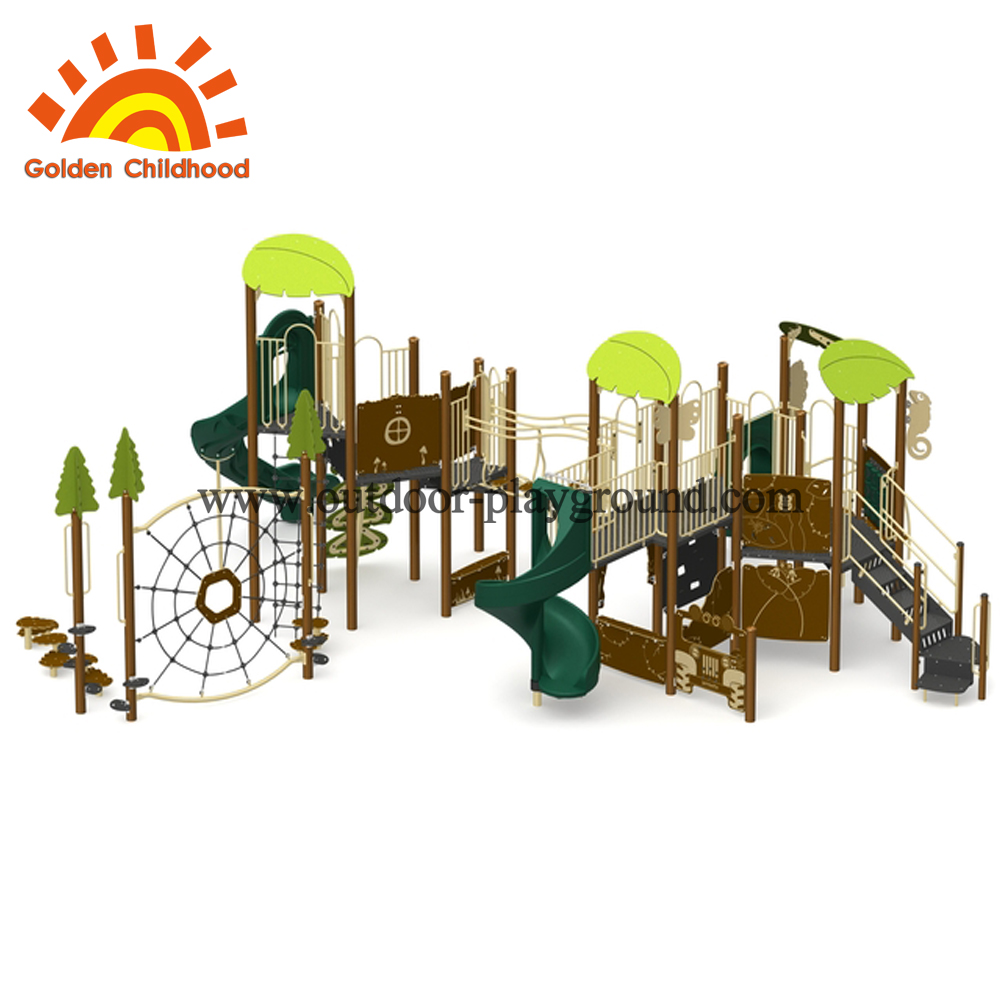 green lovely outdoor play structure