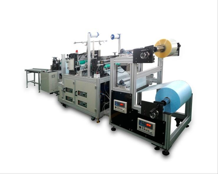 Waterproof ( double layer ) shoe cover making machine