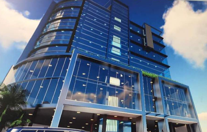 Sri Lanka Colombo Commercial Building-Tempered glass and Curved Tempered Glass