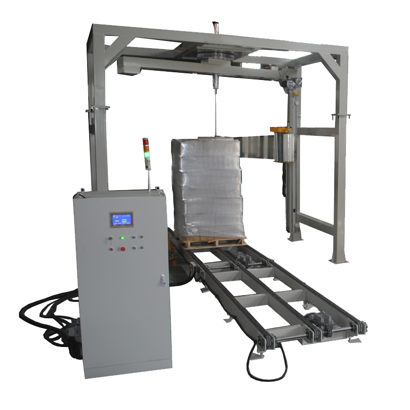 Fully autoamtic rotary arm stretch wrapping machine