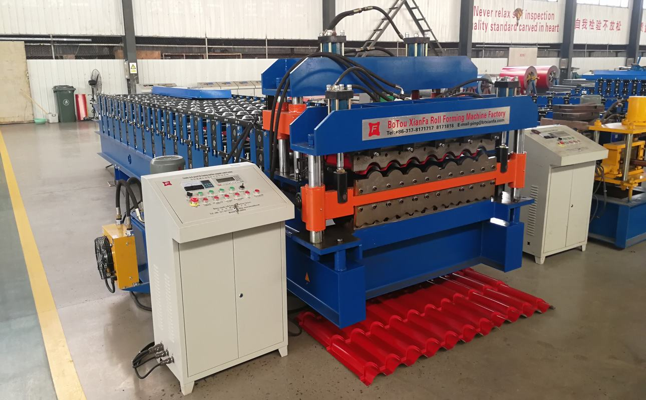 Glazed Tile and Corrugated Double Deck Forming Machine