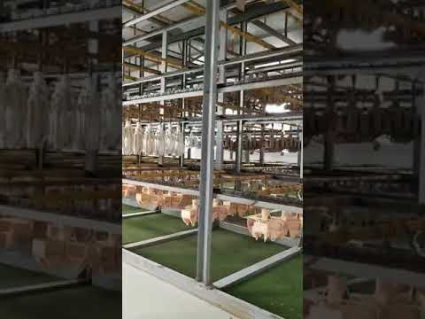 Fully automatic adhering sand drying line