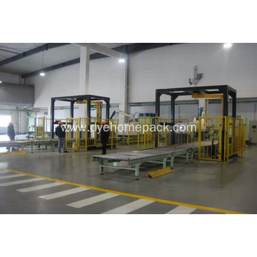 Horizontal stretch wrapping machine door packing machine