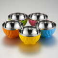 Double Wall Non Magnetic Stainless Steel Multicolor Bowl