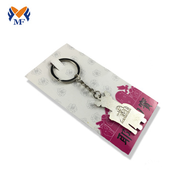 Custom shaped metal keychain no minimum