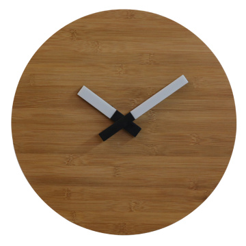 Europe style for Wall Clock Light Up Wooden Wall Clock Natural Bamboo with LED Light export to Cyprus Supplier