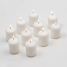 Weddings Small Color White Votive Unscented Candles