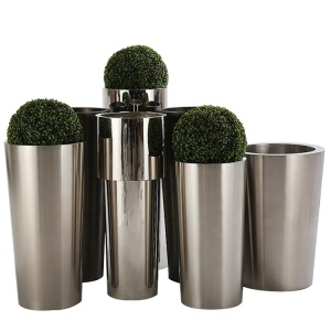 Stainless Steel Flower Pot Metal Round Flowerpot