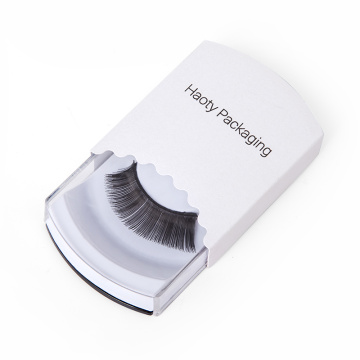 Simple Custom Clear Plastic Mink Eyelashes Paper Box