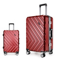 Trolley luggage abs aluminum frame.can do zip