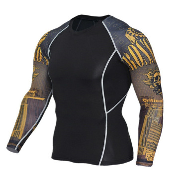 Mens sports athletic tops polyester long sleeve shirts