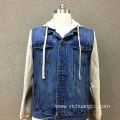 Men's cotton denim double pocket casual jacket