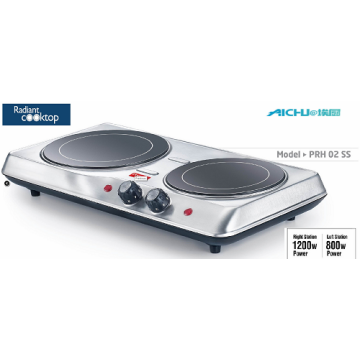 Electric Stove Radiant Cook Top 2 Burners