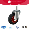 Braked Plate Swivel Black Rubber Industrial Castor