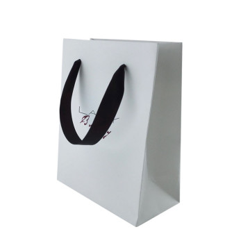 Top Fashion Good Quality White Shopping Paper Bag
