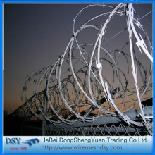 Single Coil BTO-22 Galvanized Razor Barbed Wire