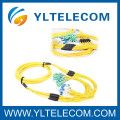 Pre-terminated LC / APC Corning Fiber Optic Jumper For FTTH Network Project