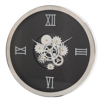 Goods high definition for Wooden Wall Clock 14 inch round living room wall clock supply to India Suppliers