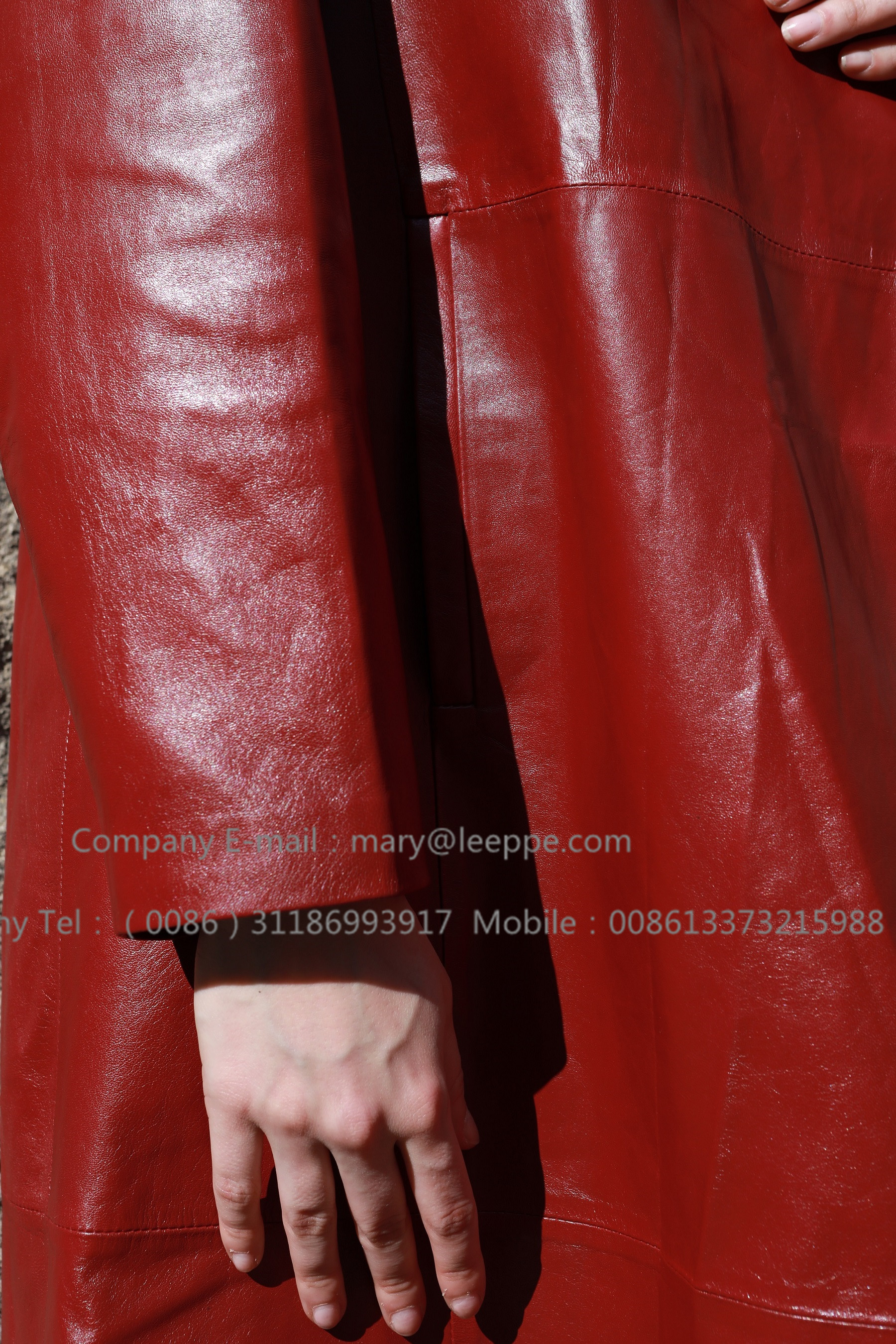 Red Leather Coat (3)