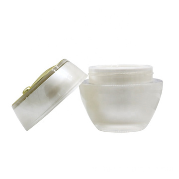 Wholesale high quality leaf shape acrylic cosmetic jars with good price