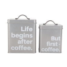 Metal Coffee Sugar Tea Canister Set