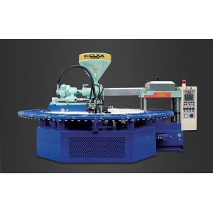 Automatic Rotary PVC Air Blowing Injectiong Molding Machine