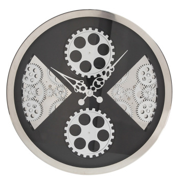 16 Inches Gear Wall Clock With Fan-shape Pattern