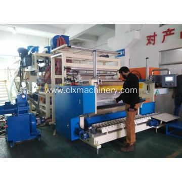 Jumbo Yield 1500mm Three Screws Stretch Film Machinery