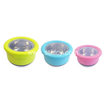 3pcs Stainless Steel Lunch Box Food Storage Containers