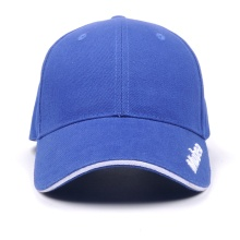 Custom Blue Sport Baseball Cap  with 3d embroidery