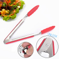 Kitchen Cooking Mini Tongs Metal Silicone Frying Tongs