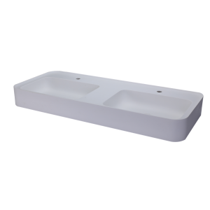European Style Fancy Solid Surface Double Wash Basin