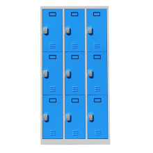 metal storage 9 door locker with combination lock