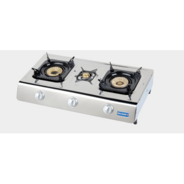 Stainless Steel Gas Stove with Brass Burner Cap