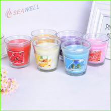natural scented decorative glass jar candle