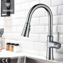 Luxury Single Lever Pull Down Sprayer Kitchen Faucet