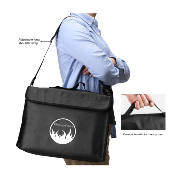 Black Business Document Fireproof Bags for Home