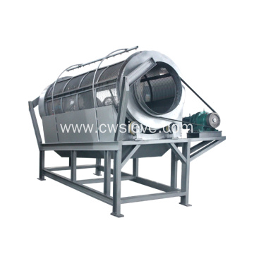Large capacity almond powder trommel screening machine