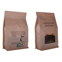 Flat Paper Biodegradable Bag For Coffee With Valve