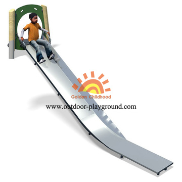 Steel Freestanding HPL Playground Equipment Straight Slide