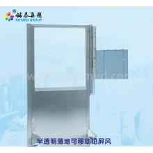 Translucent floor movable lead screen