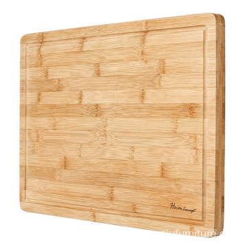 "Premium Organic Bamboo [ HEIM CONCEPT ] Extra Large Cutting Board and Serving Tray with Drip Groove [ 18"" x 12"" x 1"" inch Thick"