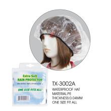 10 Years for Plastic Rain Bonnet Plastic waterproof PE rain hat supply to Russian Federation Factory