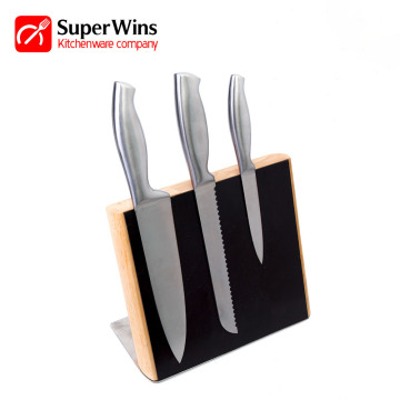 Professional Stainless Steel Kitchen Knife Set with Block