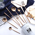 High Quality Hotel Stainless Shinny Rose Gold Cutlery