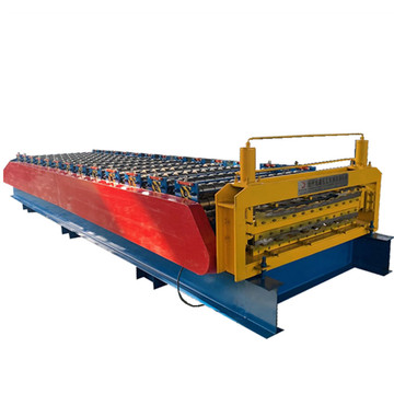 Color galvanized metal trapezoidal double forming machine