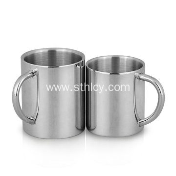 Stainless Steel Double Wall Mug Cup with Handle