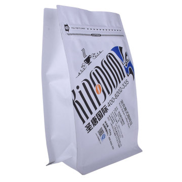 Biodegradable Paper Coffee Bag With Coffee Valve And Zipper