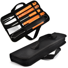 Customized for BBQ Tools 5PCS BBQ Set With 600D Oxford Bag supply to Portugal Factory