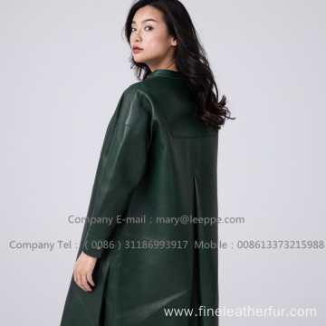 Patent Leather Long Women Coat